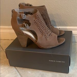 Vince Camuto Brown Leather Heels